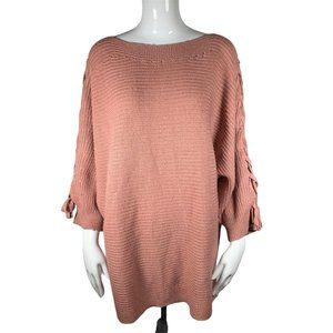 Siren Lily Mauve Rose Gold Knit Sweater